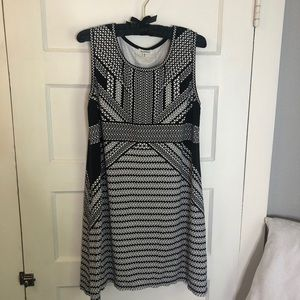GUC Black and White Aztec inspired dress